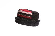 Black, Red & White Rolled Pillbox Hat