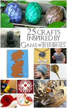 Winter is coming! Make these 25 Crafts Inspired by Game of Thrones from Mad in Crafts