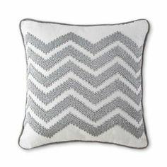 Happy Chic by Jonathan Adler Silver Chevron Decorative Pillow