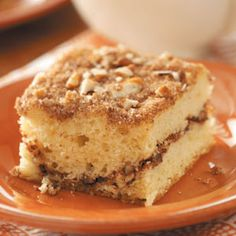 Sour Cream Streusel Coffee Cake Recipe- Recipes This is a Wisconsin recipe-using our own delicious sour cream, of course! What better place to enjoy a dish like this than in the Dairy State? Sour Cream Pound Cake, Sour Cream Coffee Cake, Coffee Cream, Coffee Cake Recipe With Cake Mix, Coffe Cake, Dessert Recipes, Pastry Recipes, Drink Recipes, Food Cakes