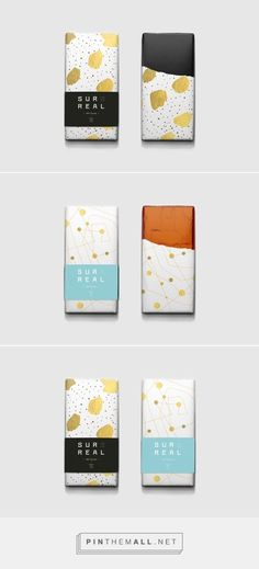 Branding, Graphic Design, Packaging for Surreal Ch. - Branding, Graphic Design, Packaging for Surreal Ch. Candy Packaging, Tea Packaging, Chocolate Packaging, Black Packaging, Graphisches Design, Label Design, Design Ideas, Food Packaging Design, Packaging Design Inspiration