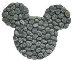 Mickey Mouse Design River Rocks Stepping Stone Wall Art Lawn Garden Decor | eBay