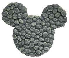 Mickey Mouse Design River Rocks Stepping Stone Wall Art Lawn Garden Decor | eBay