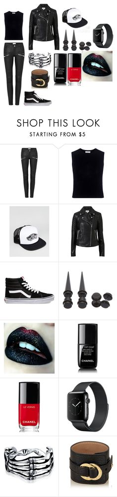 Female!Andy going for a night out with Ashley by principehayden on Polyvore featuring A.L.C., Witchery, Bulgari, Bling Jewelry, Hot Topic, Vans and Chanel