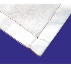 """Hand Hemstitched 100% Cotton 18"""" Handkerchief"""