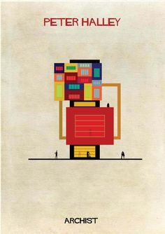 Peter Halley in architectural form. Illustrator Federico Babina's Archist imagines artists as architecture, studying the influence contemporary art has on modern design. More from the series at our site.