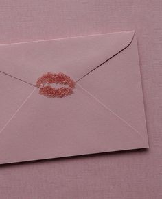 Send me a Love Letter closed with a KISS | Romance Pink aesthetic kiss lips |