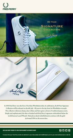 Fred Perry 80 Year Signature Collection