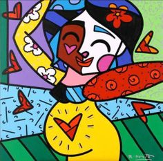 Original work created by Romero Britto for Brazilian President Dilma Rousseff's billion new project the ''Stork Network'' Paper Architecture, Architecture Tattoo, Graffiti Painting, Graffiti Art, Arte Country, Zombie Art, Easy Paintings, Oil Paintings, Arte Pop