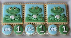 Frog cookies~                                   By Yankee Girl Yummies, green, number, blue