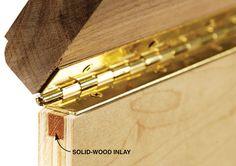 Reinforce Plywood for Hinge Screws – Woodworking Shop – American Woodworker … - Diy Wood Crafting Woodworking Techniques, Woodworking Jigs, Carpentry, Woodworking Projects, Unique Woodworking, Woodworking Furniture, Diy Wood Projects, Wood Crafts, Bois Diy