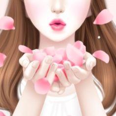 러블리걸 (꽃잎바람) 카카오톡 테마 - 멜로우J / Mellow J : 네이버 블로그