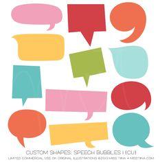 Speech Bubbles 1 Shapes ·CU·