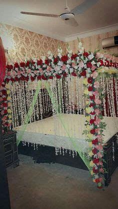 Bedroom Decoration Ideas In Pakistan Bridal Room Decor, Wedding Night Room Decorations, Romantic Room Decoration, Romantic Bedroom Design, Flower Room Decor, Indian Wedding Decorations, Marriage Decoration, House Decorations, Indian Weddings