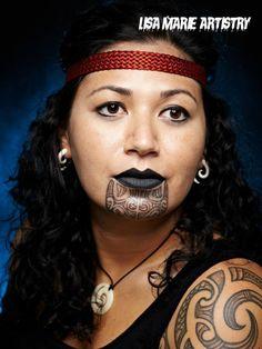 Maori tattoo / theatre makeup / film tv - by Lisa Marie… Maori Tattoos, Maori Face Tattoo, Maori Tattoo Designs, Marquesan Tattoos, Samoan Tattoo, Face Tattoos, Sexy Tattoos, Mother Daughter Tattoos, Tattoos For Daughters