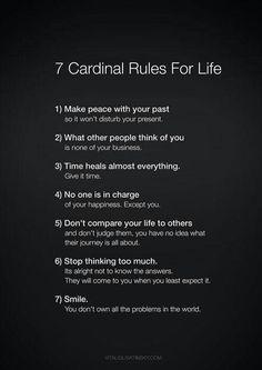 7 #reglas carninales para la vida. ¿Añades alguna más?