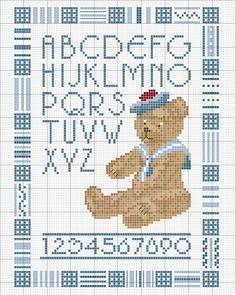 Schema punto croce Alfabeto-orso-2