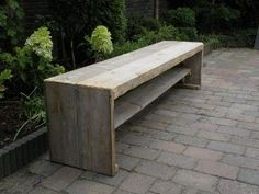Steigerhouten side table bank