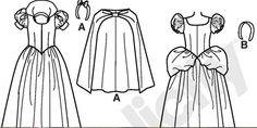 A: Snow White Outline B: Cinderella Outline Outline, Snow White, Cinderella, Snoopy, Costumes, Fictional Characters, Art, Art Background, Dress Up Clothes