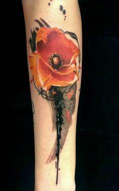 my poppy tattoo, tnx Mirco - Sundance tattoo - #bologna