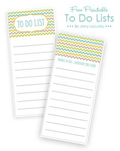 Free Printable To Do Lists | Living Locurto - Free Party Printables, Crafts & Recipes