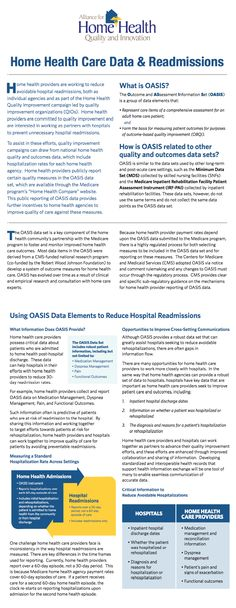 Home Health Care Data & Readmissions