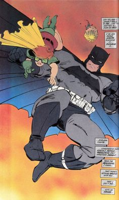 Frank Miller, Dark Knight Returns - Best Batman (and Robin) ever!! Too bad he had to go and ruin it with All Star, but that's beside the point