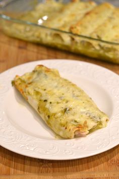 Salsa Verde Chicken Enchiladas - Supper for a Steal