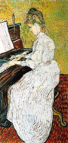 Vincent Van Gogh - Post Impressionism - Auvers - Marguerite Gachet - 1890