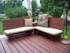 DIY Cute Outdoor Pallet Bench | EASY DIY and CRAFTS