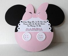 Deb's Party Designs - Pink Minnie Baby Shower Invite with Insert., $2.50 (http://www.debspartydesigns.com/pink-minnie-baby-shower-invite-with-insert/)