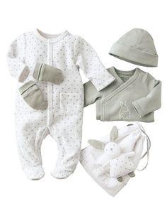 Verbaudet: Conjunto recém-nascido com 5 peças para as 1ª noites do bebé