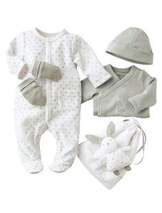 Happy Price 5-Piece Newborn Set & Baby Bag Grey+Yellow