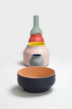 Seams - ceramic centerpieces collection by Benjamin Hubert for Bitossi
