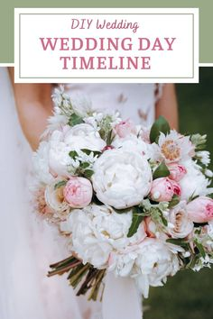 Planning to DIY on the day of your wedding? If your wedding's not at a traditional venue, it's up to you to make sure all your projects get done on time. If you create a day of wedding timeline, it'll be easier to stay on track. Find out how to create your day of wedding timeline. And what to include on your wedding day checklist. Once your timeline is ready, you can share it with everyone: bridesmaids, groomsmen & vendors. Schedule your DIY bouquets, centerpieces, ceremony and reception… Best Wedding Planner Book, Wedding Planner Binder, Wedding Planning On A Budget, Wedding Decorations On A Budget, Wedding Planning Timeline, Destination Wedding Planner, Diy Wedding Photo Booth, Diy Wedding Backdrop, Diy Wedding Bouquet