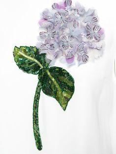 Купить Dolce & Gabbana платье с аппликацией гортензии.