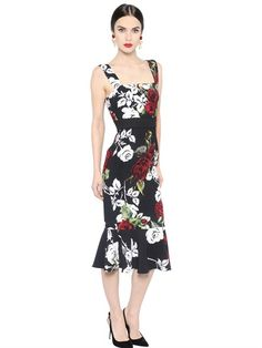 Dolce & Gabbana | Rose Printed Cady Dress