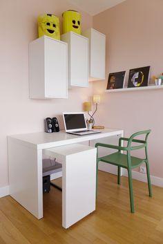 Decor, Office Desk, Ikea Eket, Home Office, Office, Home Decor, Desk, Corner Desk, Furniture