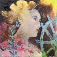 Head East,  an original one of a kind 12 x 12  oil painting by Katie Hoffman by KatieHoffmanFineArt on Etsy