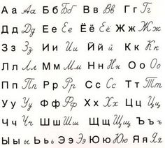 The Russian alphabet (Russian: русский алфавит, transliteration: rússkij alfavít) uses letters from the Cyrillic script. The modern Russian alphabet consists of 33 letters.