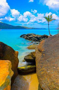 """Between the Rocks"" Charlotte Amalie West, St Thomas  USVI by Chris Taylor"