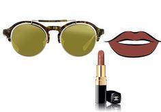 ¿Cómo combinar tu barra de labios con tus gafas de sol?