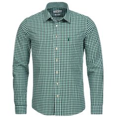 Trachtenhemd Slim Fit in Grün von Almsach