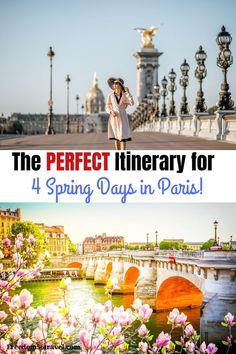 You need this perfect Paris Spring Itinerary! Whether it's your first time or time, these things to do in Spring in Paris will make your vacation in Paris the perfect time! Paris Travel Tips, Europe Travel Tips, European Travel, Places To Travel, Travel Stuff, Time Travel, Travel Guides, 4 Days In Paris, Paris In Spring
