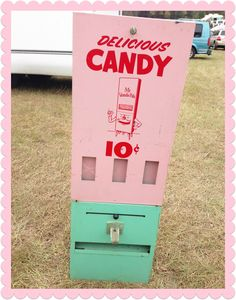 Scored this adorable #retro #vintage #candy machine!