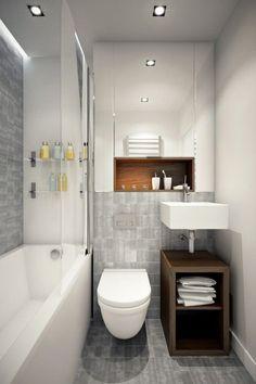 Aménagement pour une petite salle de bains.