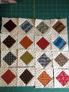Items similar to Mini Civil War reproduction blocks 3 handmade on Etsy Colchas Quilting, Scrappy Quilts, Mini Quilts, Quilting Designs, Antique Quilts, Vintage Quilts, Vintage Sewing, Patch Quilt, Quilt Blocks