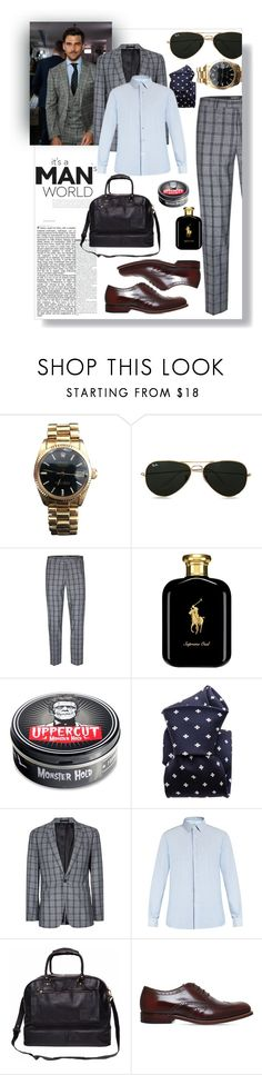 """""""Untitled #18"""" by mahileather ❤ liked on Polyvore featuring Rolex, Topman, Polo Ralph Lauren, 21 Men, Valentino, Grenson, men's fashion, menswear, classy and mahileather"""