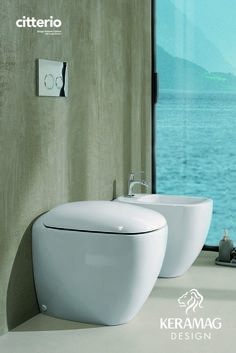 The citterio collection's WC and bidet by Keramag Design UK. Find more at: http://www.keramagdesign.com/