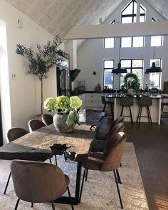 Dream Home Design, Home Interior Design, House Design, Living Room Bedroom, Living Room Decor, Bedroom Modern, Br House, Scandinavian Style Home, Loft Interiors